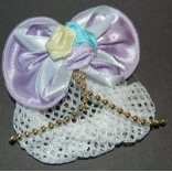 Children's Pastel Lavender Mini Snood with Gold Accent Beads