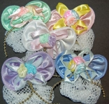 CHILDRENS PASTEL MINI SNOOD PACKAGE with GOLD BEAD ACCENT