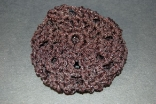 Black Sparkle Crocheted Hair Bun Cover - Blocked