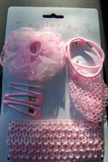 Childrens Ballerina Hair Accessories Set