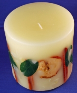 Botanical Pillar Candle Sweet Apple Fig