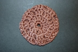 Chocolate Brown (Natural Bamboo) Corcheted Hair Bun Cover Blocked