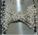 White Faux Pearl Beaded Magic Comb Swinky