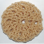 Gold Sparkle Hair Bun Cover - Blocked
