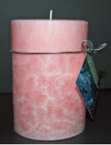 Soy Pillar Candle Jasmine Rose