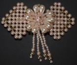 Large Pink Pearl Hair Barrette
