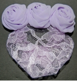 Lilac Purple Chiffon and Lace Snood