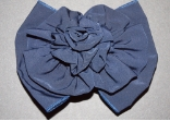 Navy Blue Hair Bow Barrette