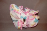 Floral Chiffon Bow Hair Jaw Clip Pink Yellow Blue Combination
