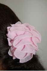 Mini Pastel Colors Chiffon Bow Hair Jaw Clips