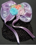 Children's Pastel Purple Mini Snood Hair Bow