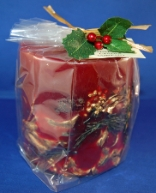 Botanical Pillar Candle Cranberry Spice