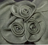 Sage Green Triple Rose Hair Barrette