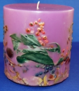 Botanical Pillar Candle Tuscan Vineyard
