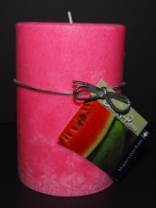 Soy Pillar Candle Watermelon