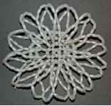 White Seed Beaded Hair Bun Cover