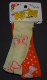 Childrens Stretch Headband Yellow and Orange