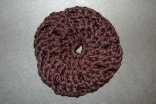 Black (Natural Bamboo) Crocheted Hair Bun Cover Blocked