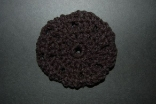 Black Crocheted Hair Bun Cover - Blocked Style
