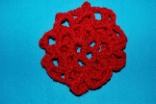 Burgandy Crocheted Hair Bun Cover Scolloped