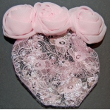 Pink Chiffon and Lace Childrens Snood