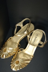 Ladies Gold Dance Shoes