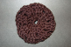 Black (Natural Bamboo) Crocheted Hair Bun Cover Blocked (SKU: HBC-NATBLB001)
