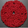 Burgandy Sparkle Hair Bun Cover - Blocked (SKU: HBC-A4BGYSPKLB001)