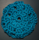 Dark Teal Crocheted Hair Bun Cover-Blocked (SKU: HBC-A4DTB001)