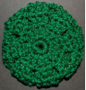 Green Sparkle Hair Bun Cover Blocked Style (SKU: HBC-GRNCSPKLB001)