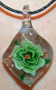 Green and Black Diamond Shaped Glass Pendant (SKU: GJPNDIGREE001)