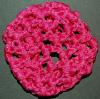 Mini Ribbon Hair Bun Nets Hot Pink Imported (SKU: HBN-MINIHOTPINK001)