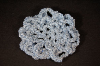 Blue (LIGHT BLUE SPARKLE) Crocheted Hair Bun Cover - Scolloped (SKU: HBC-A4LBSS001)