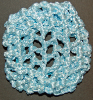 Light Blue Ribbon Hair Bun Nets Imported (SKU: HBN-BLU001)