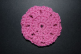 Pink Rose Crocheted Hair Bun Cover-Blocked (SKU: HBC-A4PRSEB001)