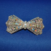 Multicolor Bow Tie Silver Metal Barrette (SKU: JBARMC001)