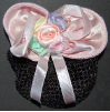 Childrens Pastel Pink Mini Snood Hair Bow with French Clip (SKU: HCSMINIP001)