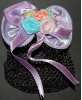 Children's Pastel Purple Mini Snood Hair Bow (SKU: HCSMINIPPL001)