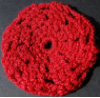 Red Sparkle Hair Bun Cover - Blocked (SKU: HBC-A4RSPKLB001)