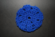 Royal Blue Crocheted Hair Bun Cover-Blocked (SKU: HBC-A4RBB001)