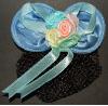 Children's Royal Blue Mini Snood Hair Bow with French Clip (SKU: HCSMINIRBLUE001)