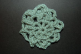 Sage Crocheted  Hair Bun Cover - Scolloped (SKU: HBC-A4SGES001)