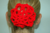Scolloped Hair Bun Covers