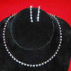 Single Strand Rhinestone Choker Set (SKU: JNKL-24)