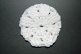 White Crocheted Hair Bun Cover-Blocked (SKU: HBC-A4WB001)