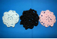 Dancers Package Pink,Black and White  Scolloped Hair Bun Covers (SKU: HBC-A4PBWS007)