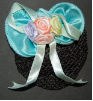 Children's Pastel Aqua Blue Mini Snood Hair Bow (SKU: HCSAQUA001)