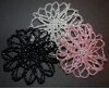 Seed Beaded Hair Bun Covers
