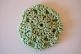 Celery Green (Natural Bamboo) Crocheted Hair Bun Cover Blocked (SKU: HBC-NATCEB001)