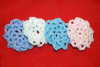 Pastel Colors Mini Crocheted Hair Bun Covers - Scolloped